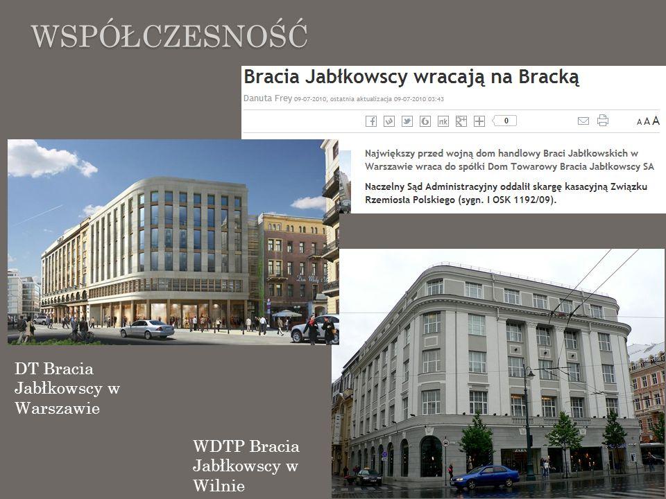 Współczesność DT Bracia Jabłkowscy w Warszawie