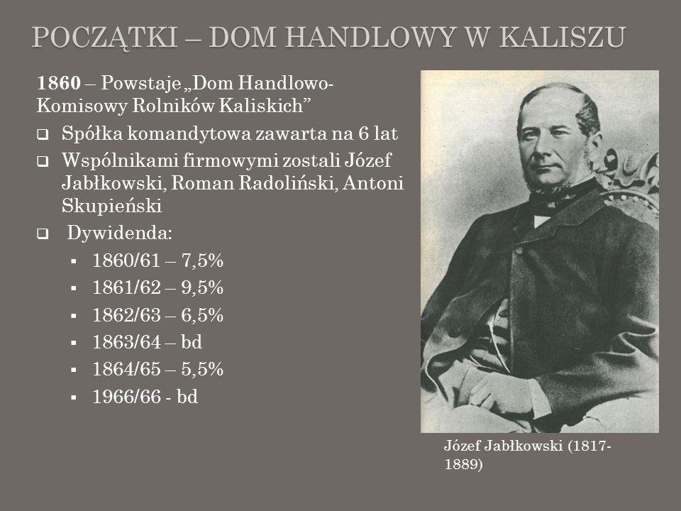 Początki – Dom Handlowy w Kaliszu