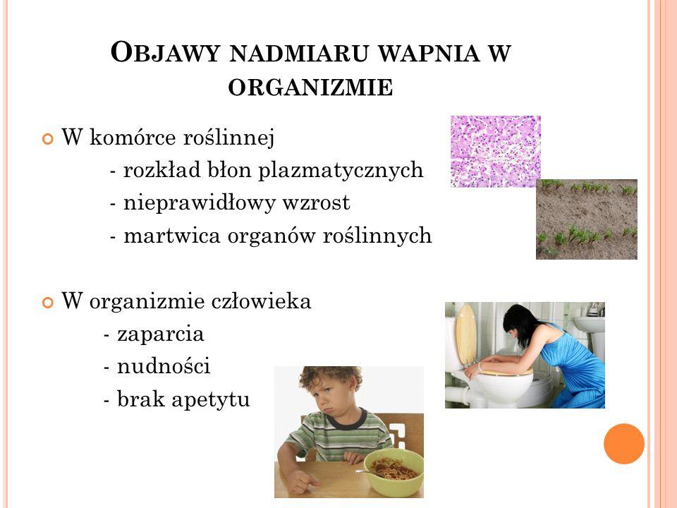 Objawy nadmiaru wapnia w organizmie