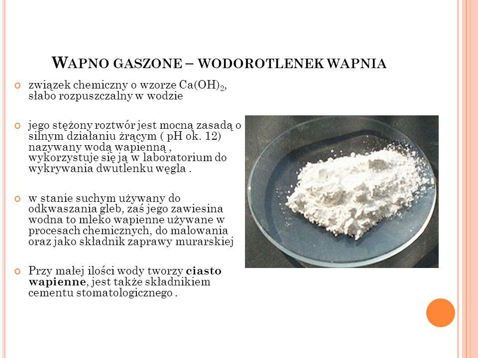 Wapno gaszone – wodorotlenek wapnia