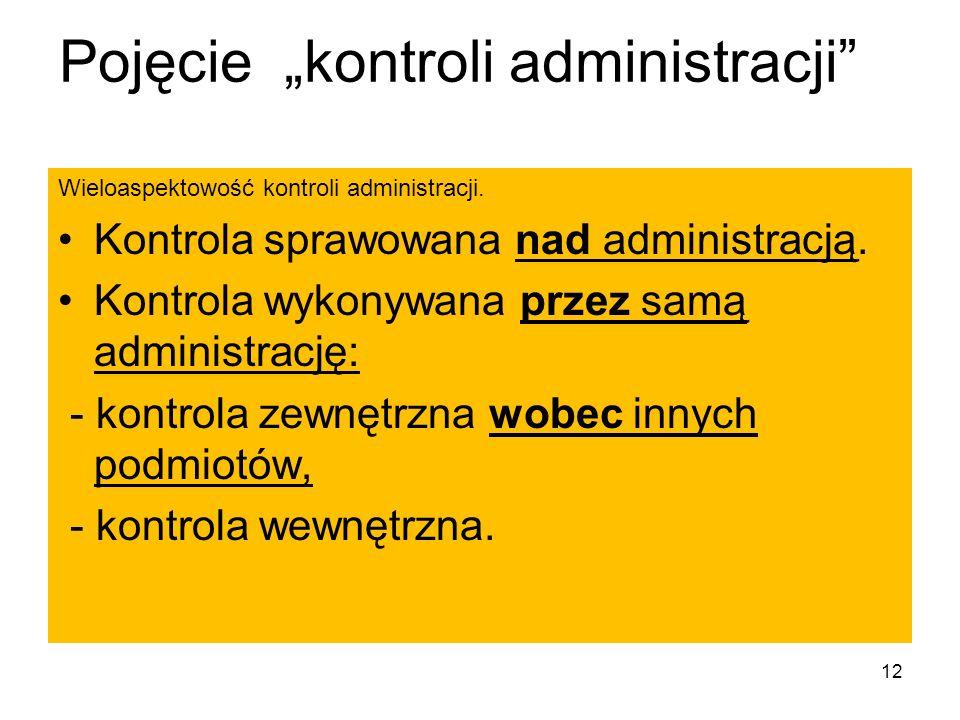 """Pojęcie """"kontroli administracji"""