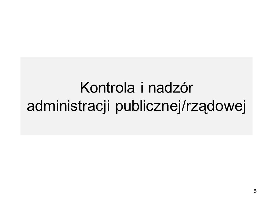 Kontrola i nadzór administracji publicznej/rządowej
