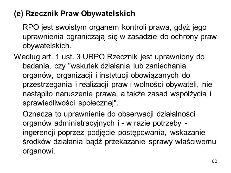 (e) Rzecznik Praw Obywatelskich