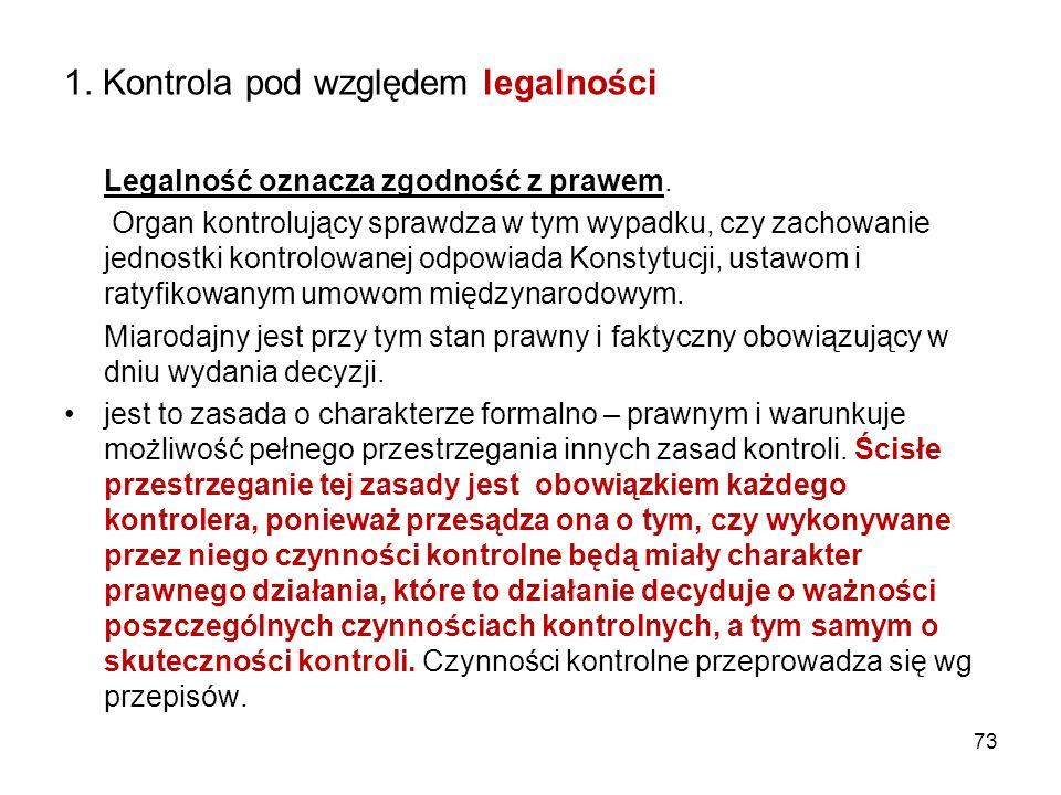 1. Kontrola pod względem legalności