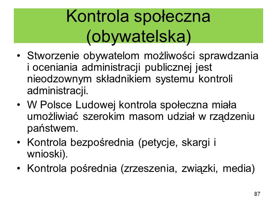 Kontrola społeczna (obywatelska)