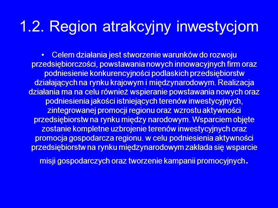 1.2. Region atrakcyjny inwestycjom
