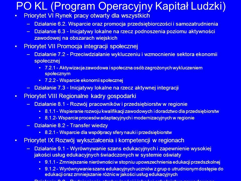 PO KL (Program Operacyjny Kapitał Ludzki)