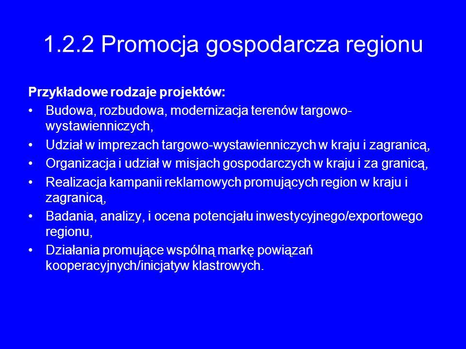 1.2.2 Promocja gospodarcza regionu
