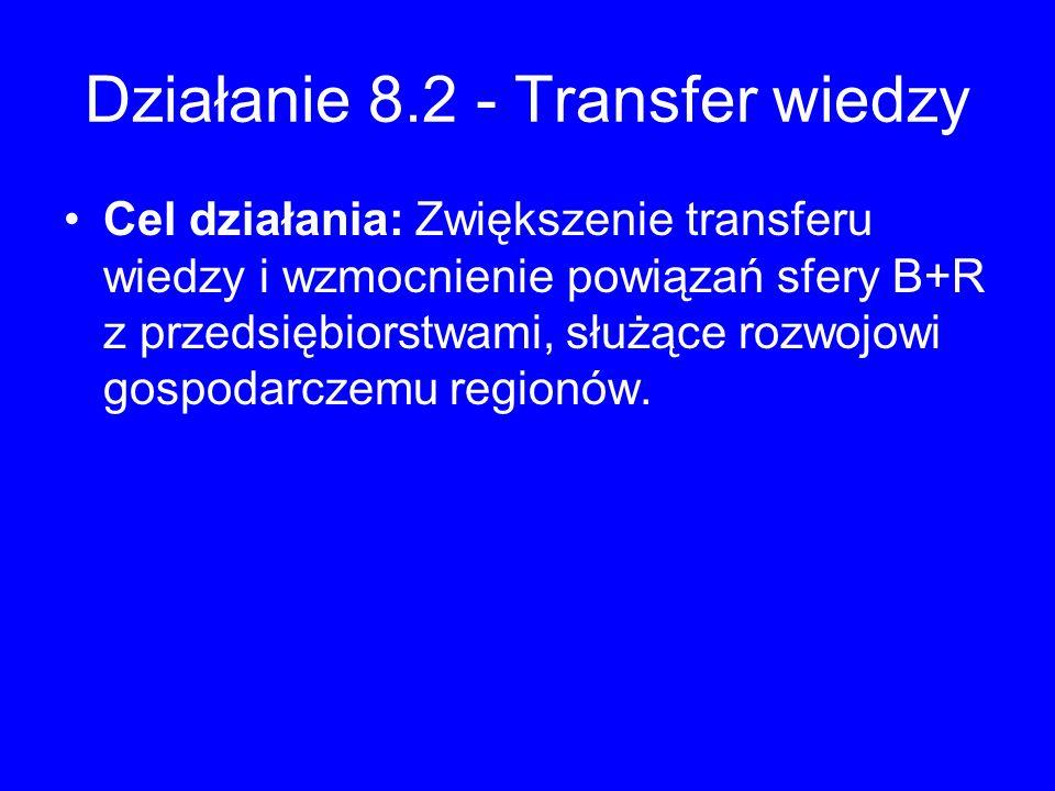 Działanie 8.2 - Transfer wiedzy