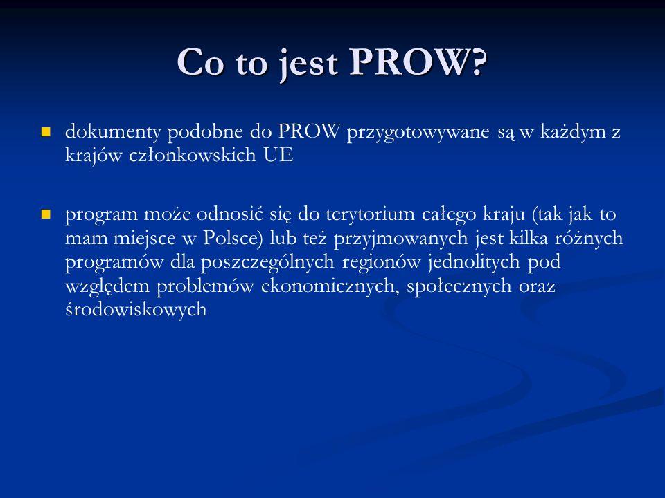 Co to jest PROW dokumenty podobne do PROW przygotowywane są w każdym z krajów członkowskich UE.