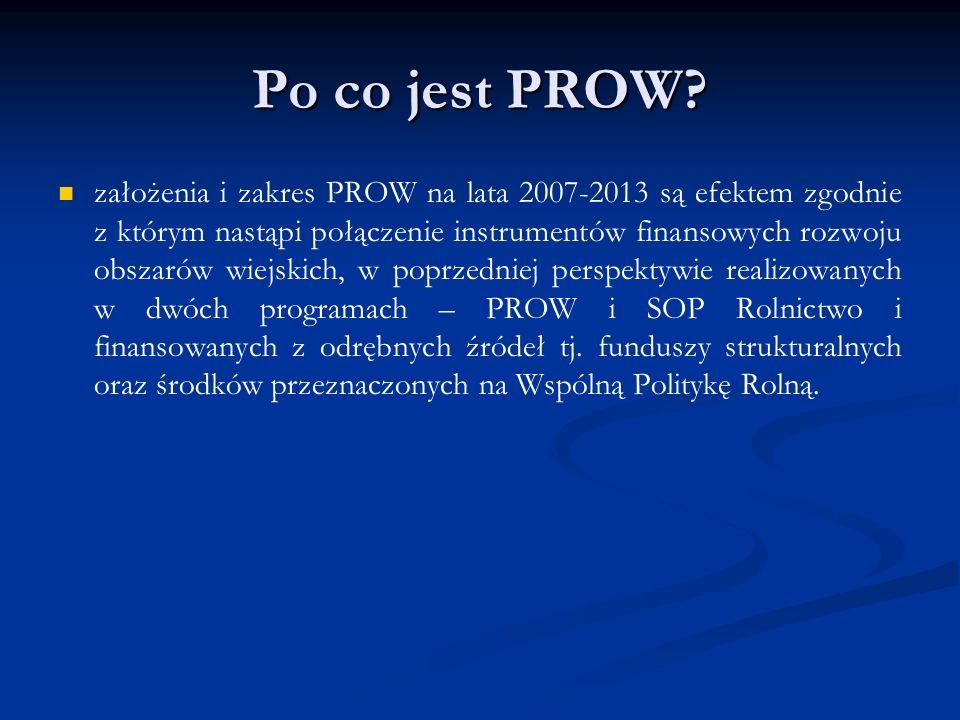 Po co jest PROW