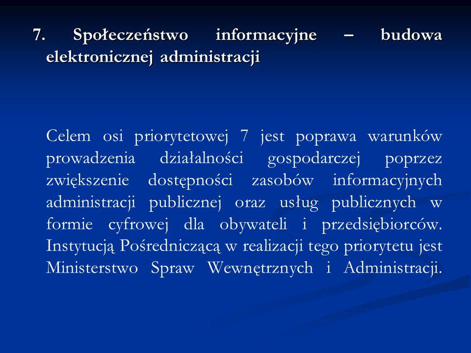 7. Społeczeństwo informacyjne – budowa elektronicznej administracji