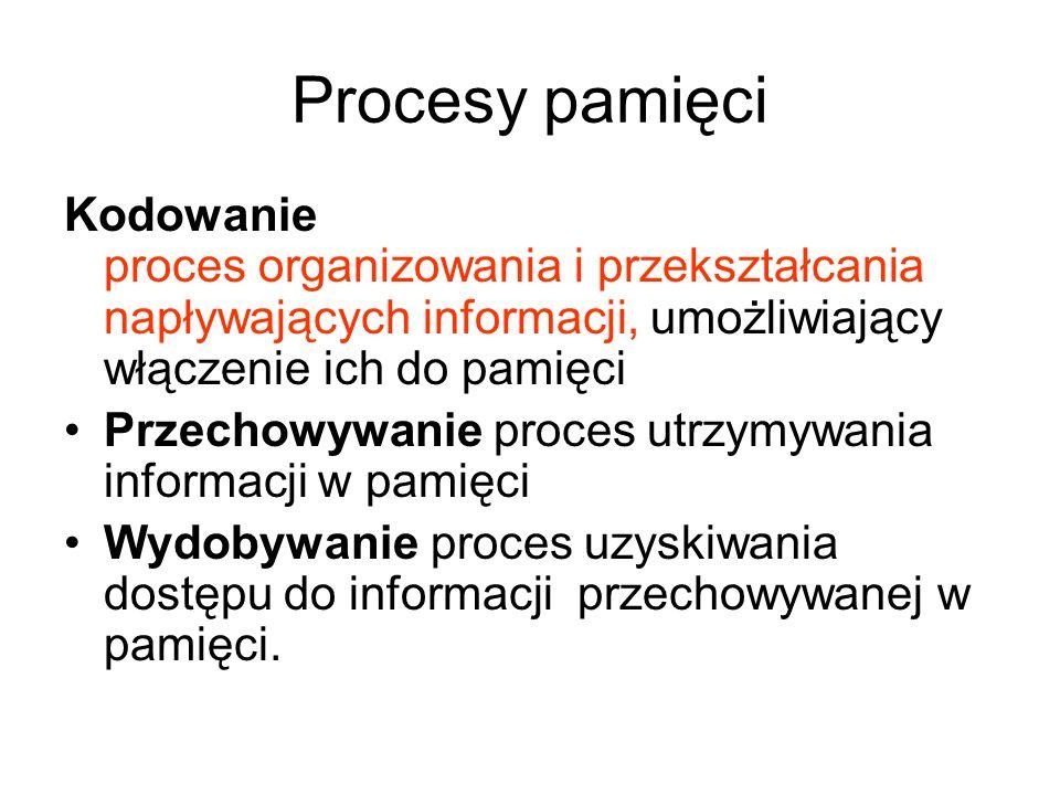 Procesy pamięci Kodowanie