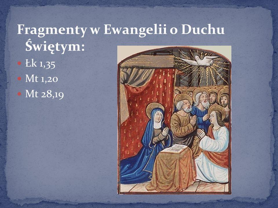 Fragmenty w Ewangelii o Duchu Świętym: