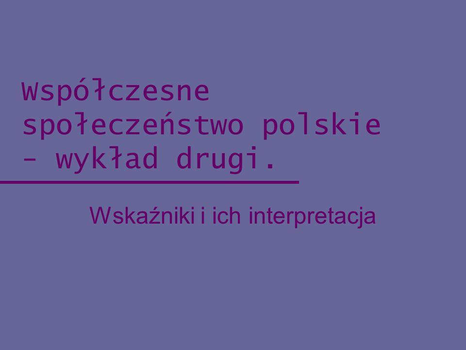 Współczesne społeczeństwo polskie - wykład drugi.