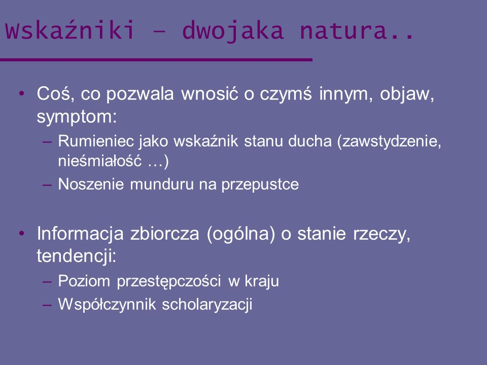 Wskaźniki – dwojaka natura..