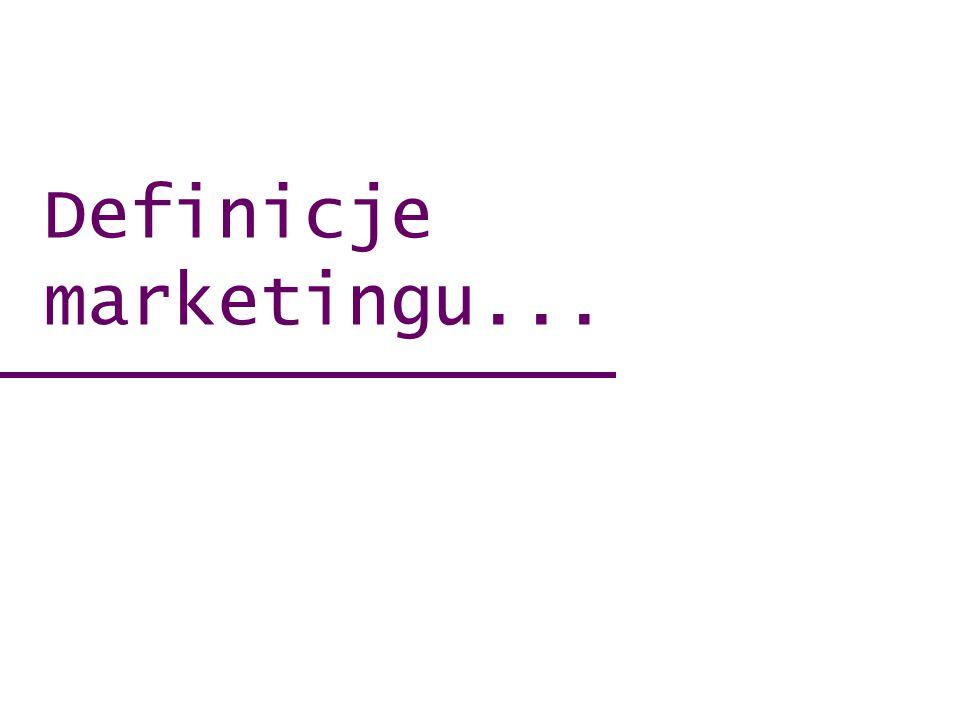 Definicje marketingu...