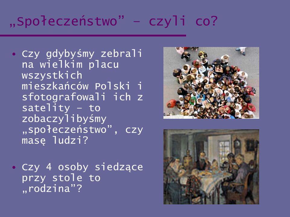 """""""Społeczeństwo – czyli co"""