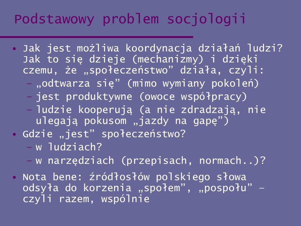 Podstawowy problem socjologii