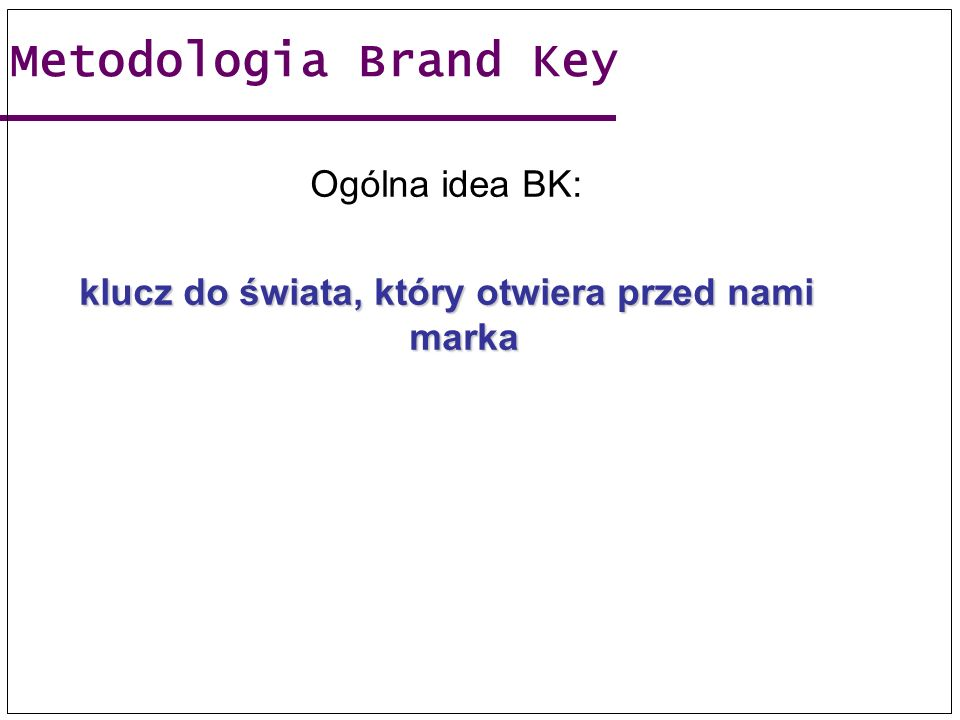 klucz do świata, który otwiera przed nami marka