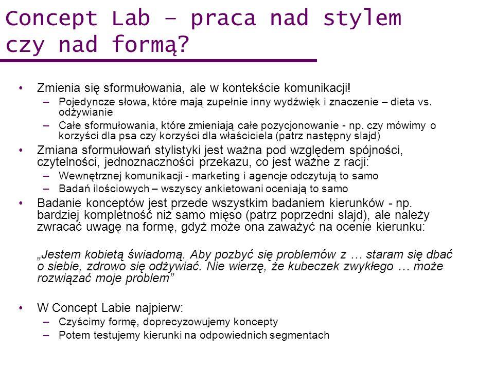 Concept Lab – praca nad stylem czy nad formą