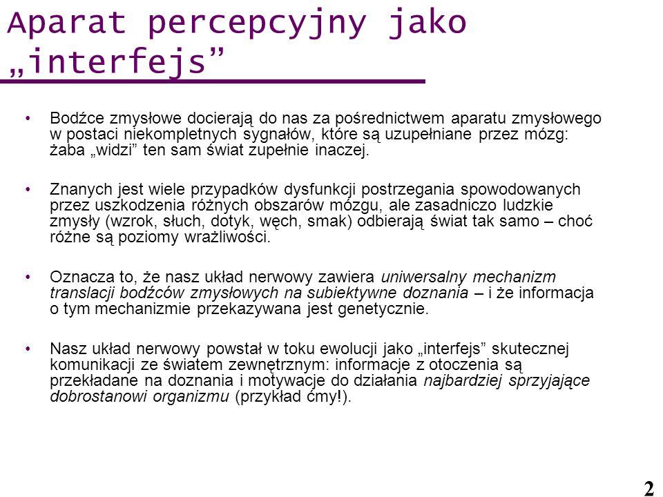 """Aparat percepcyjny jako """"interfejs"""