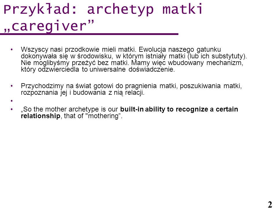 """Przykład: archetyp matki """"caregiver"""