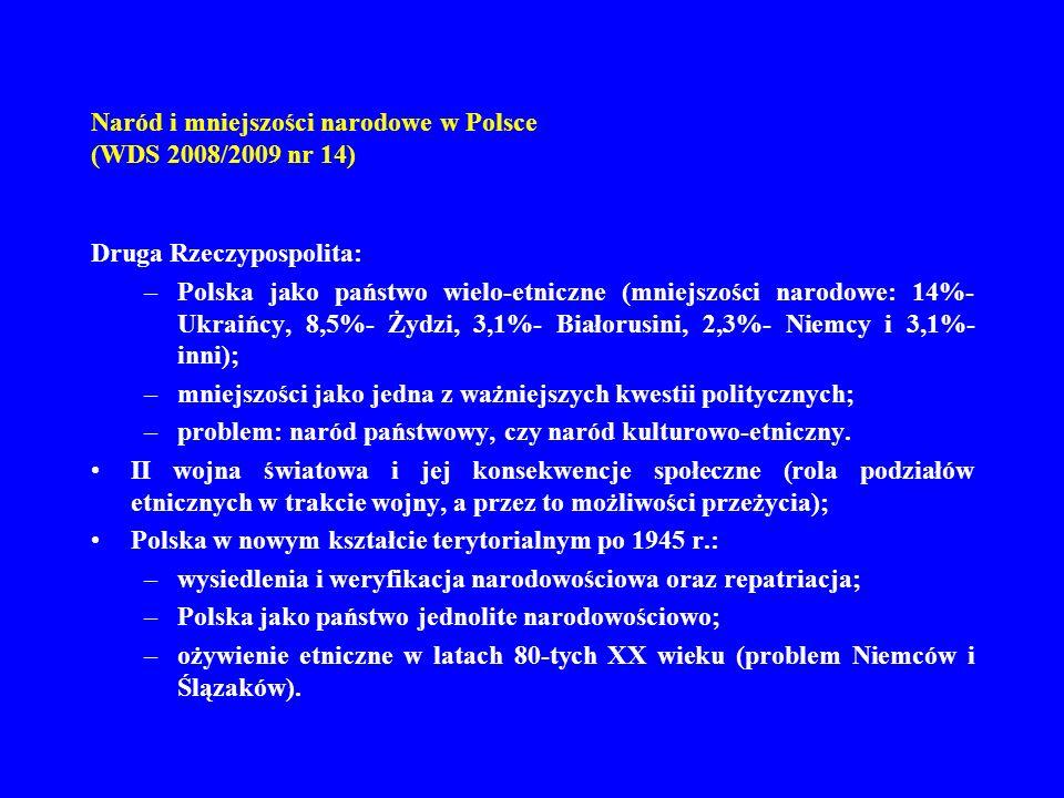 Naród i mniejszości narodowe w Polsce (WDS 2008/2009 nr 14)