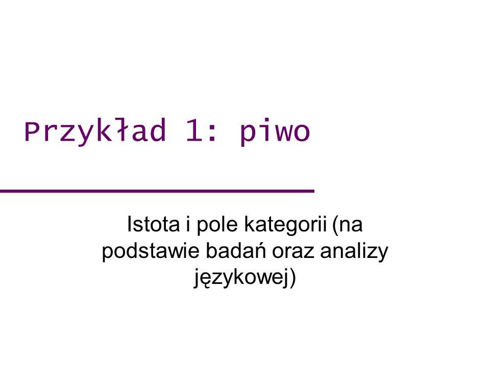 Istota i pole kategorii (na podstawie badań oraz analizy językowej)