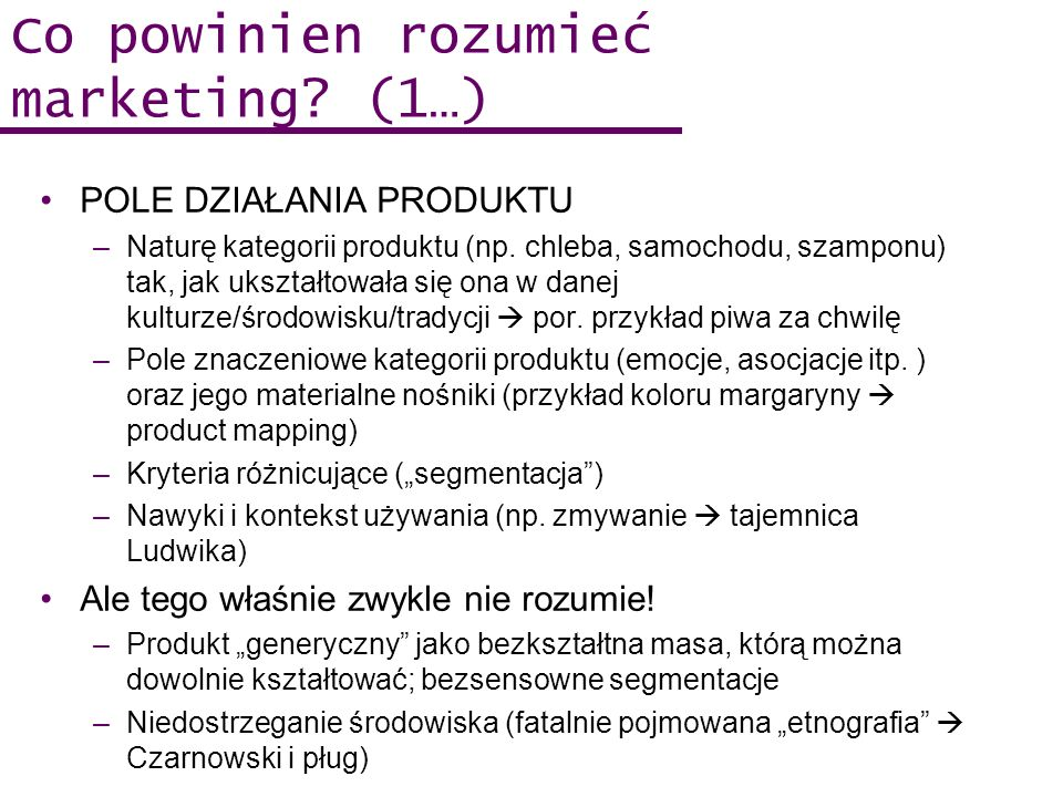 Co powinien rozumieć marketing (1…)
