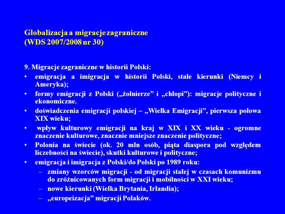 Globalizacja a migracje zagraniczne (WDS 2007/2008 nr 30)