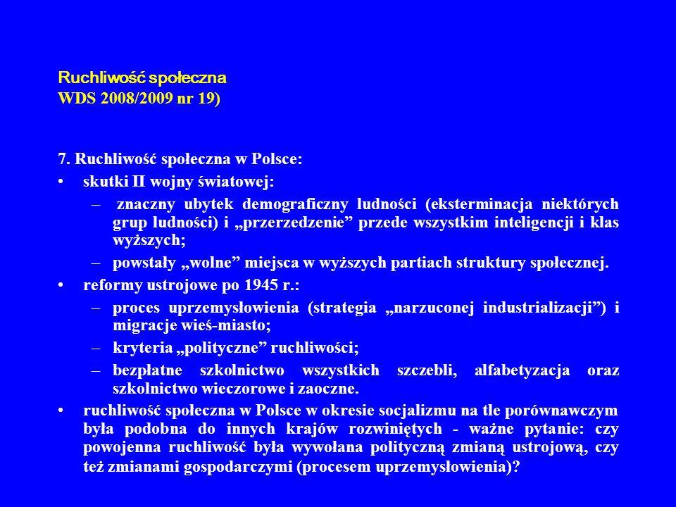 Ruchliwość społeczna WDS 2008/2009 nr 19)