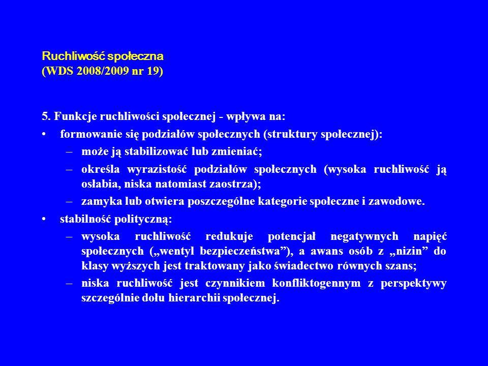 Ruchliwość społeczna (WDS 2008/2009 nr 19)