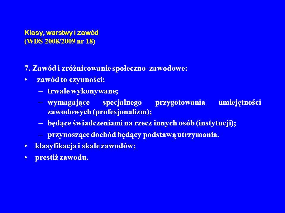 Klasy, warstwy i zawód (WDS 2008/2009 nr 18)