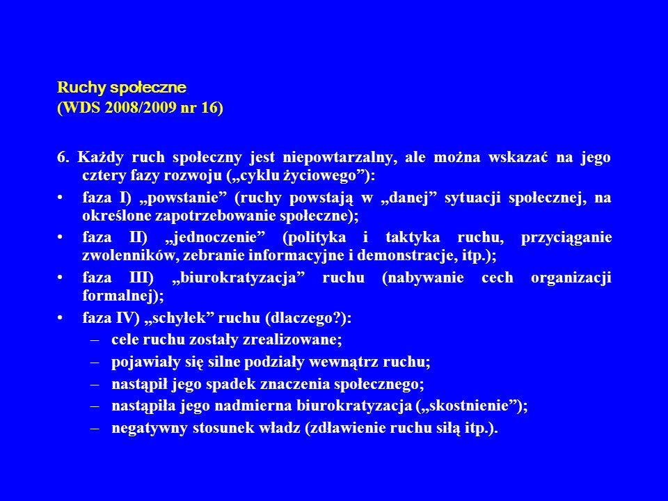 Ruchy społeczne (WDS 2008/2009 nr 16)