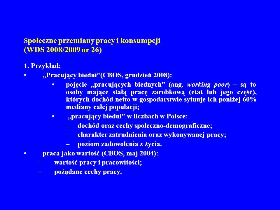 Społeczne przemiany pracy i konsumpcji (WDS 2008/2009 nr 26)