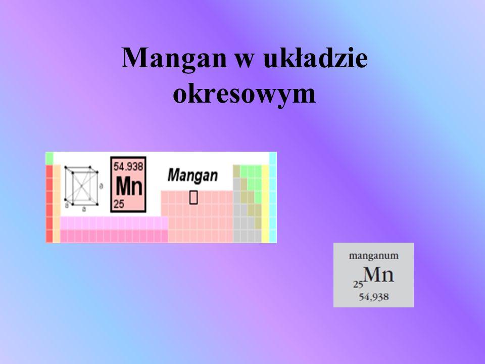 Mangan w układzie okresowym