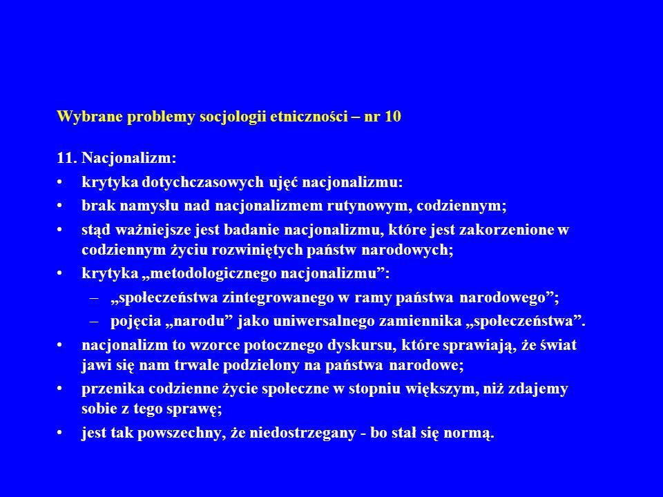 Wybrane problemy socjologii etniczności – nr 10