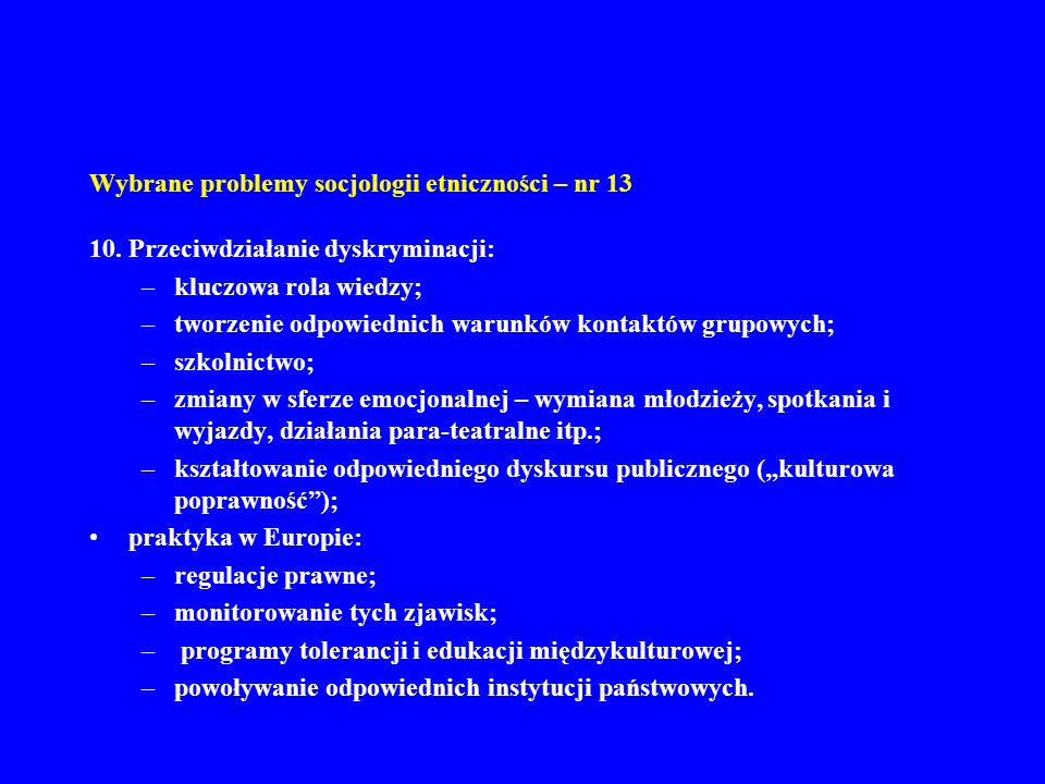 Wybrane problemy socjologii etniczności – nr 13