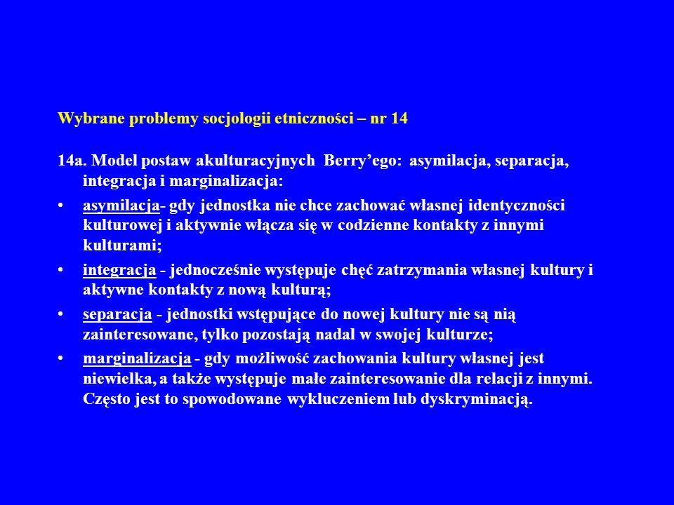 Wybrane problemy socjologii etniczności – nr 14