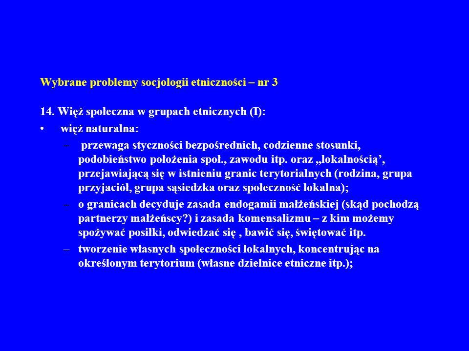 Wybrane problemy socjologii etniczności – nr 3