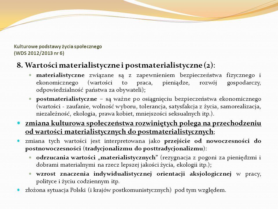 Kulturowe podstawy życia społecznego (WDS 2012/2013 nr 6)