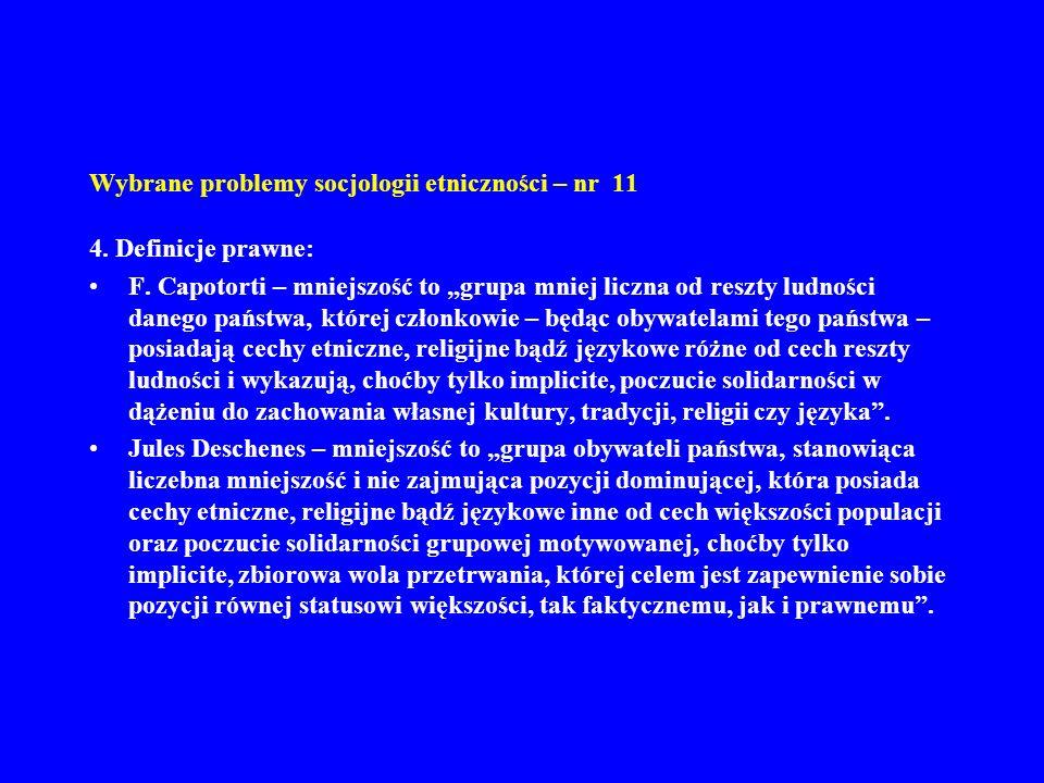 Wybrane problemy socjologii etniczności – nr 11