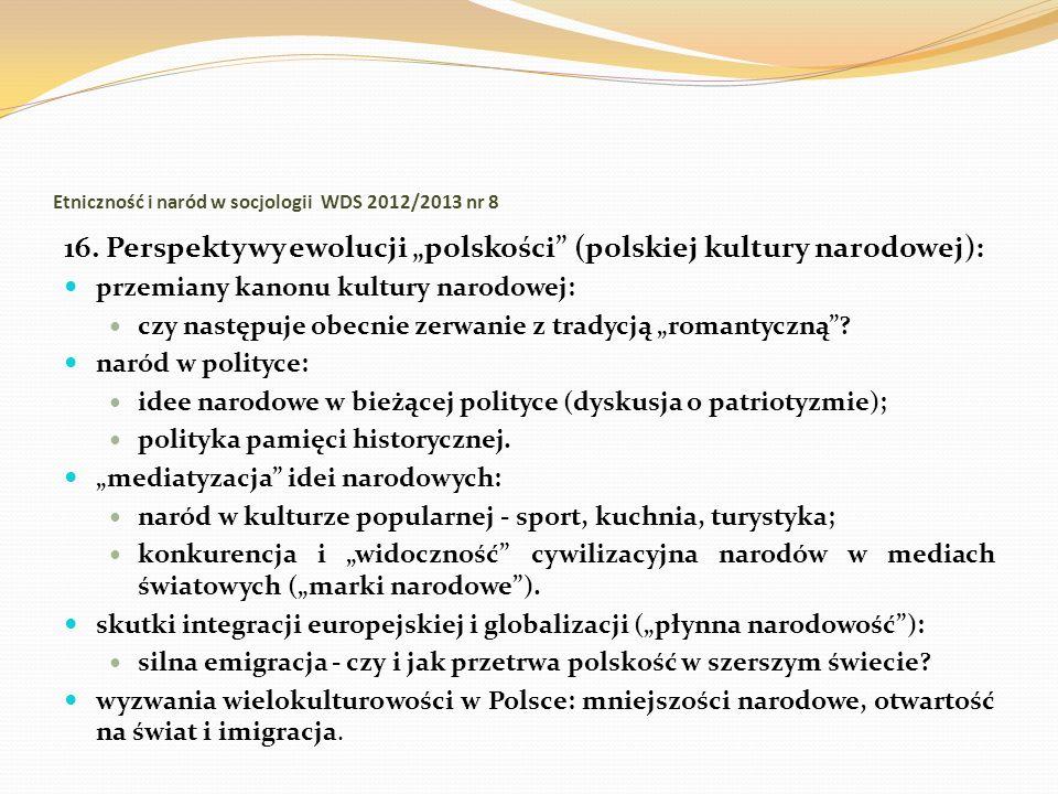 Etniczność i naród w socjologii WDS 2012/2013 nr 8