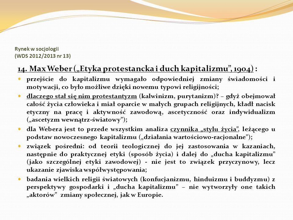 Rynek w socjologii (WDS 2012/2013 nr 13)