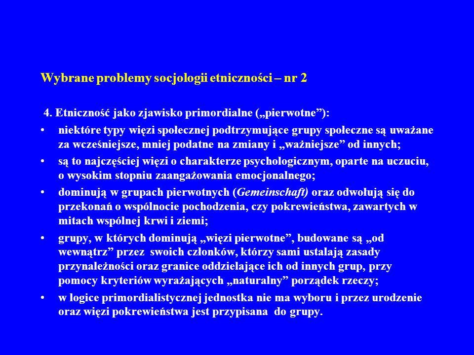 Wybrane problemy socjologii etniczności – nr 2