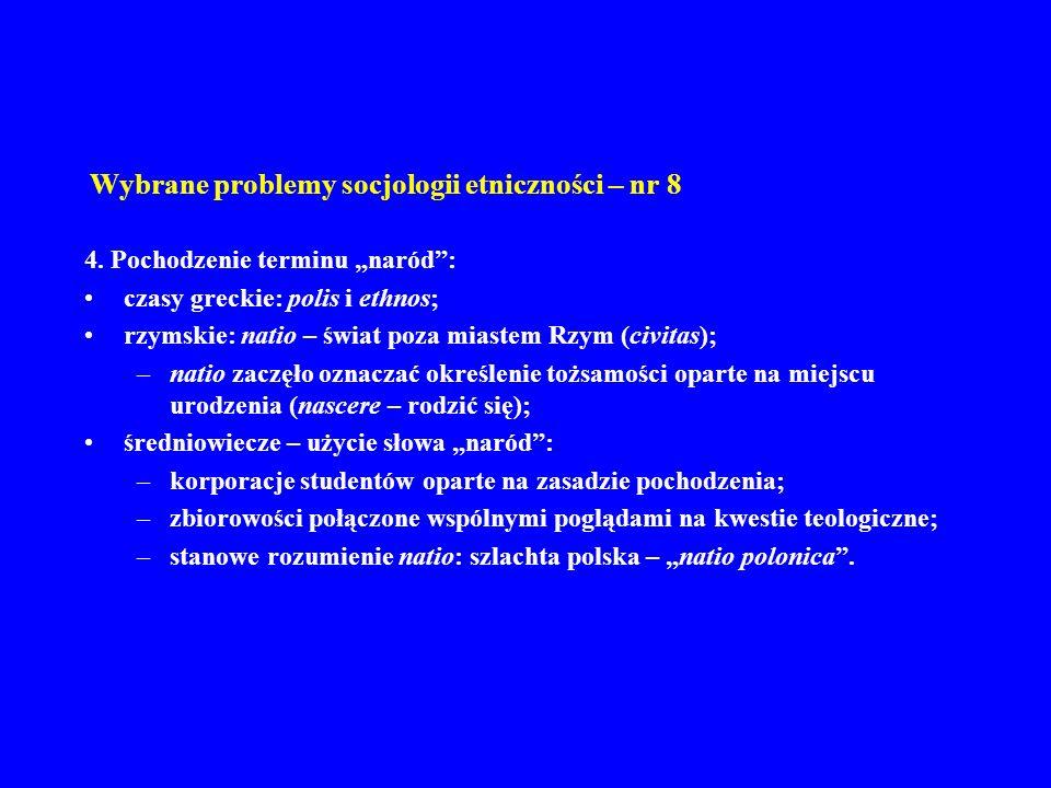 Wybrane problemy socjologii etniczności – nr 8