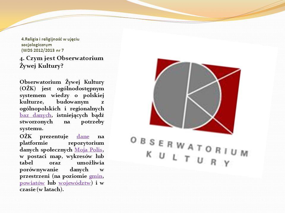 4.Religia i religijność w ujęciu socjologicznym (WDS 2012/2013 nr 7