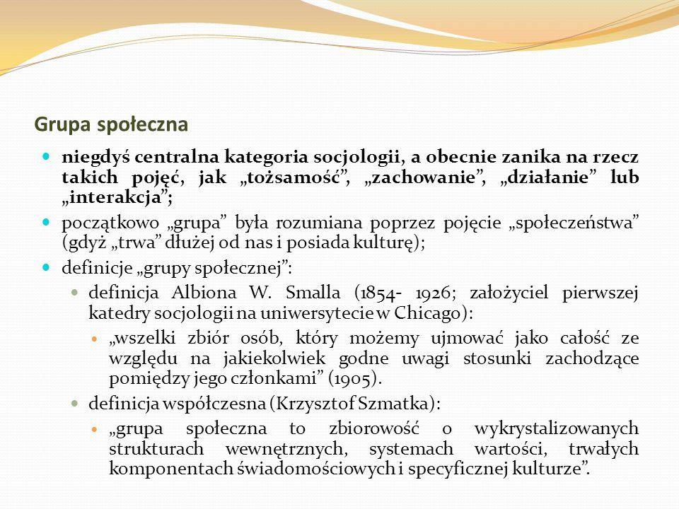 """definicje """"grupy społecznej :"""