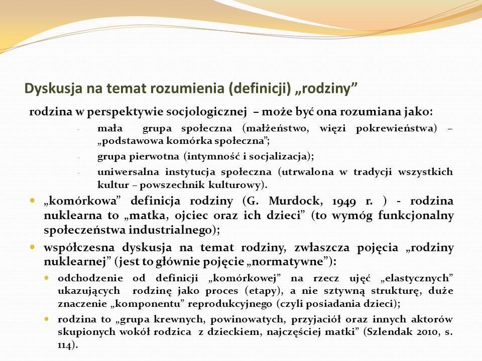 """Dyskusja na temat rozumienia (definicji) """"rodziny"""